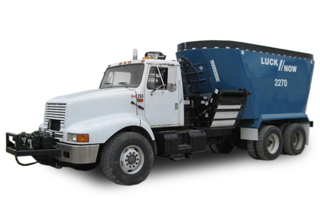 LuckNow vertical mixers truck